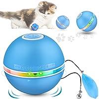DazSpirit Interaktives Katzenspielzeug Ball Katzenballspielzeug mit Led-Licht, Interaktive Elektrischer Katzenspielzeug…