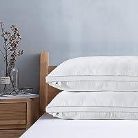 viewstar Oreillers 80 x 40cm Lot de 2, Oreiller Ferme Oreiller Moelleux Classique Coussin Blanc Garnissage Fibre Creuse…