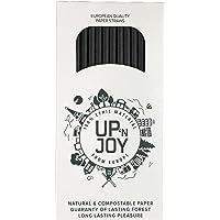 Upnjoy - 250 PCS Paille en papier, 250 Pailles noires à boire recyclables   Adapté pour boissons avec et sans alcool…