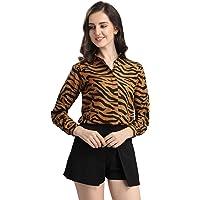 SIRIL Women's Printed Crepe Regular Fit Shirt
