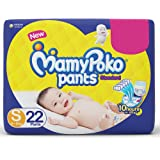 MamyPoko Pants Standard Style Small Diapers, (4 kg - 8 kg) (22 count)