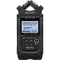 Zoom H4n Pro Black/220GE Handy Recorder - Audio Aufnahmegerät (4 Spuren, Mikrofonverstärker, bis 140 db SPL, 3, 5 mm…