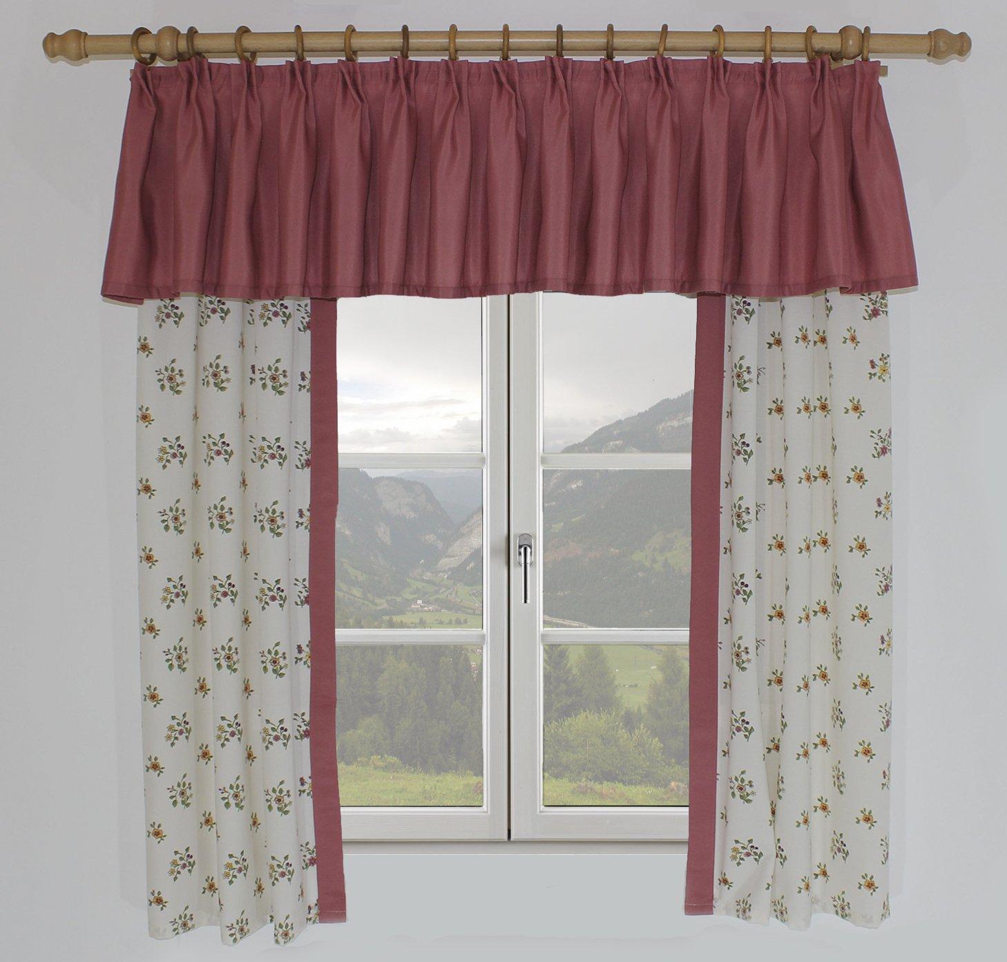 Landhaus Vorhänge amazon de wirth landhaus blumenvor81 3 design magdalena vorhang