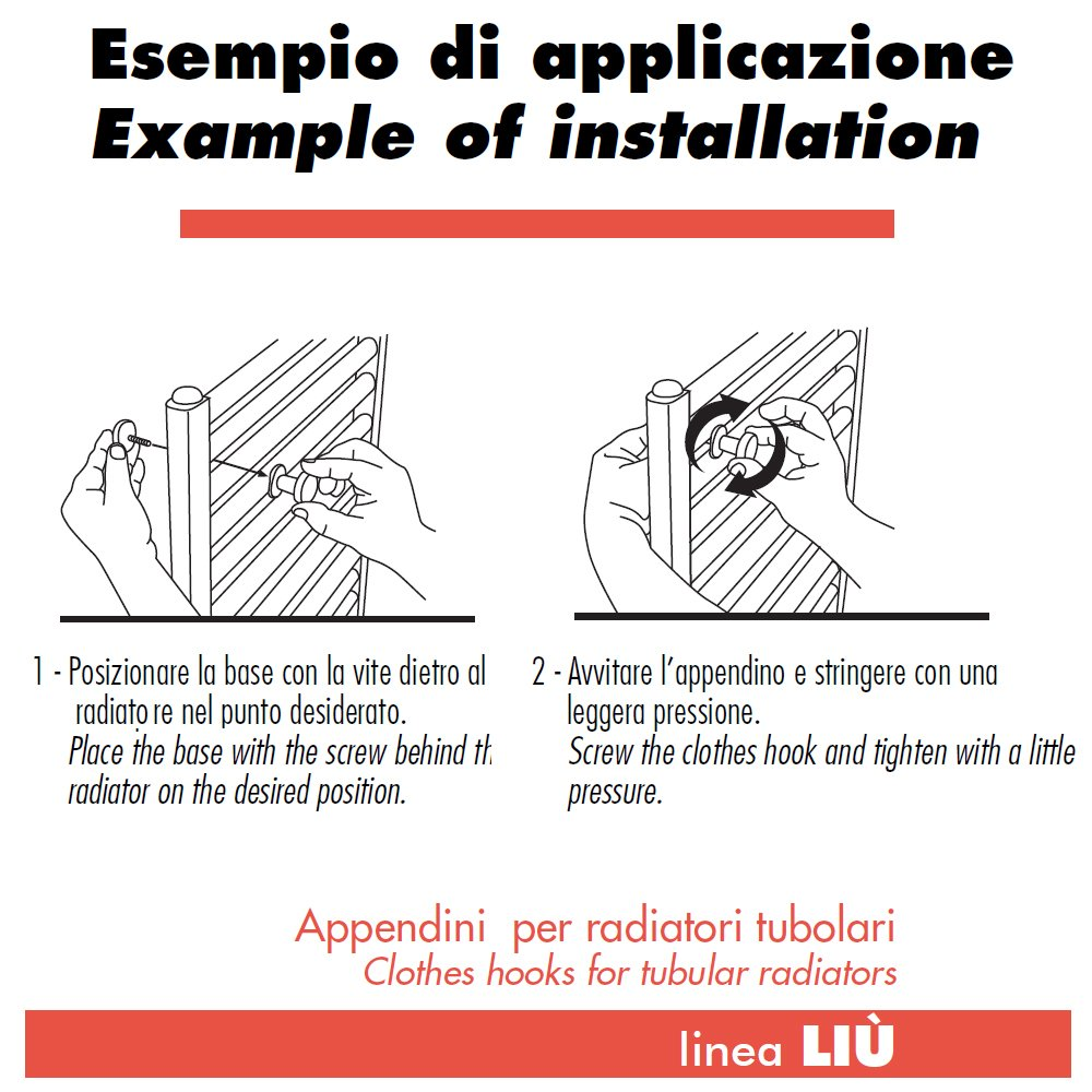 accessori per bagno 2 appendini per radiatori - liu' classic ... - Termosifoni D Arredo Per Bagno