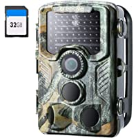 Crenova Caméra de chasse 4K 20 MP avec carte SD 32 Go 940 nm Vision nocturne 20 m et caméra de chasse étanche IP66