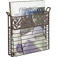 mDesign porte-revue pour salle de bain, salon, ou bureau – porte-magazine à monter au mur – porte-journal pour journaux…