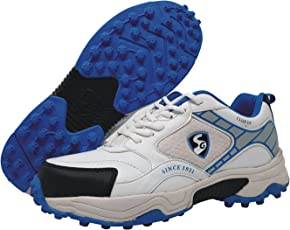 SG Club 2.0 Cricket Studs, Size 11 (White/Blue)