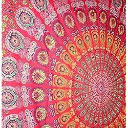 tapiz de mandalas multicolor