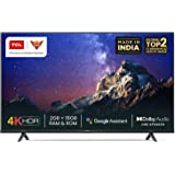TCL 108 cm (43 inches) 4K Ultra HD Certified Android Smart LED TV 43P615 (Black) (2020 Model) | With Dolby Audio