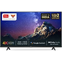 TCL 126 cm (50 inches) 4K Ultra HD Certified Android Smart LED TV 50P615 (Black) (2020 Model)   With Dolby Audio