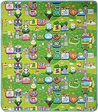 LAAT Bambino gattonare Tappeto di gioco giocattolo Schiuma Morbida Impermeabile, motivo: Duplex Alphabets …