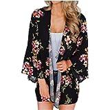 YONHEE Women Chiffon Loose Shawl - Floral Cover Up Chiffon Print Kimono Beachwear Boho Summer Casual Blouse Swimwear…