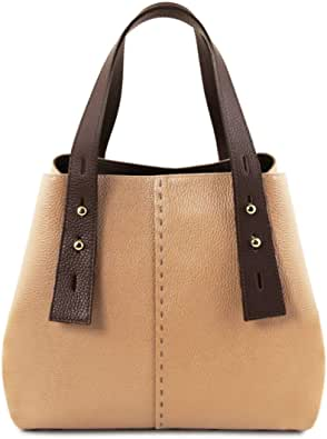 Tuscany Leather TLBag Borsa shopping in pelle
