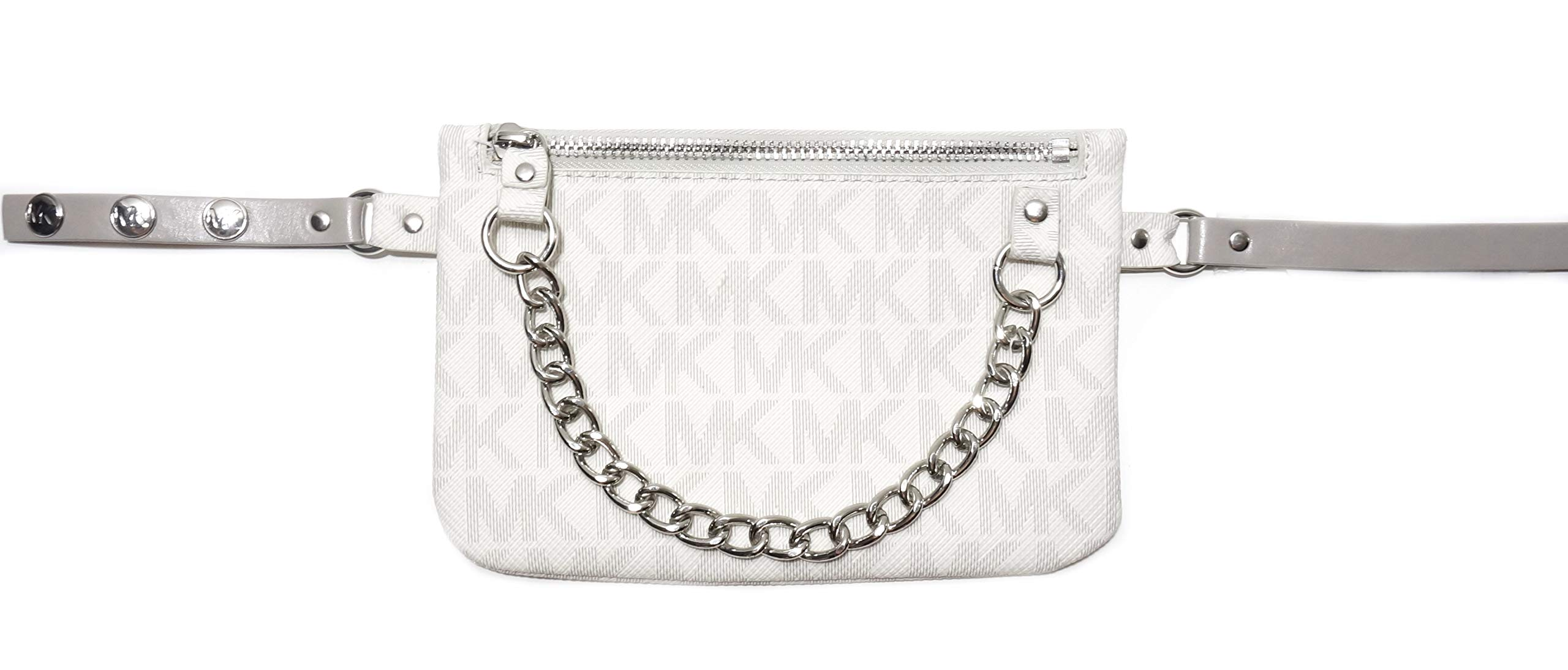 5e7354178c3b Michael Kors Vanilla MK Logo Sign Wallet Fanny Pack Waist Pouch Bag Belt L