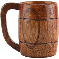 Jadeshay 350ml Natural Wooden Beer Cup, Tea Coffee Drinking Mug, Bar Accessories Gift Ideas