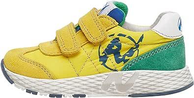 Naturino JESKO VL.-Sneaker in Suede e Tessuto-Giallo-Azzurro Giallo 21