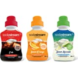 Sodastream Lot de 3 Concentrés Saveur Cola/Orange/Limonade – Sans Colorant ni Arôme Artificiels – 3 x 500 ml