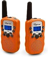 Upgrow 2X Walkie Talkies Set Kinder Funkgeräte 1-3KM Reichweite 8 Kanäle mit Taschenlampe Walki Talki Kinder Spielzeug