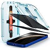 Spigen EZ Fit integritet härdat glas skärmskydd för iPhone 12 och för iPhone 12 Pro – 2-pack