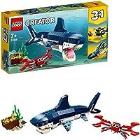 LEGO Creator Creature degli Abissi: Squalo, Granchio e Calamaro o Rana Pescatrice, Giocattoli per Bambini, 31088