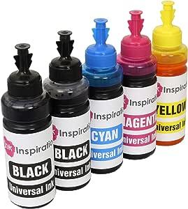 Ink Inspiration Universal Nachfülltinte Für Patronen Und Ciss System Kompatibel Mit Epson Canon Hp Brother Lexmark Dell Ricoh 5er Pack Bürobedarf Schreibwaren