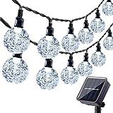 Solar Garden Lights Outdoor, 36ft 60 LED Solar String Lights Waterproof, Solar Powered Crystal Ball Indoor/Outdoor Fairy Ligh