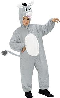 Girls Boys Kids Grey Donkey Animal Mascot Fancy Dress Costume Outfit 7-8-9 years