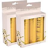 Folat - Papier Luftschlangen (18 Röllchen à 4 m) - gold glänzend - 2 x 3 Stk