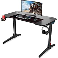 Dripex Gaming Tisch 113 cm Gaming Schreibtisch Gaming Computertisch PC Schreibtisch Gamer mit Getränkehalter und…