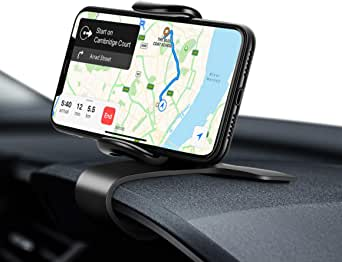 Eono by Amazon - Porta Cellulare da Auto, Supporto Telefono Girevole a 360°per Cruscotto, Accessori Auto per Cellulare, Auto Universale per iPhone Samsung Xiaomi Huawei GPS Dispositivi da 4-7'', Nero
