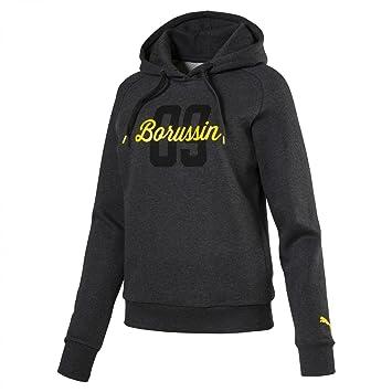 puma damen sweatshirt bvb wms fan hoody