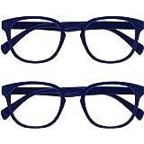 Opulize Pop 2 Stuks Retro Ronde Zwart Blauw Roze Purper Groen Grijs Mannen Vrouwen Leesbril Scharnieren Met Veer RR2