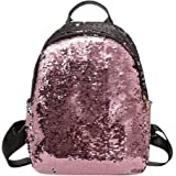 Zibuyu Glitter Sequins Women Party Shoulder Handbags Girls Casual Travel Backpacks