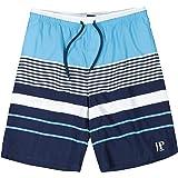 JP 1880 Men's Big & Tall Stripe Swim Shorts 720187