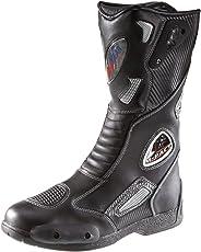 protectWEAR SB-03203-39 Motorradstiefel, Allroundstiefel, Sportstiefel aus Leder, Größe 39, Schwarz