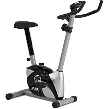 JLL® Home Exercise Bike JF100, 2018 New Adjustable Magnetic Resistance Cardio Workout, 4kg Two-Way Flywheel, Display with Heart-Rate Sensor, Adjustable Handlebars & Seat Height, 12-Month Warranty