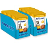 Purepet Wet Cat Food, Real Tuna and Chicken Liver in Gravy, 24 Pouches (24 x 70g)