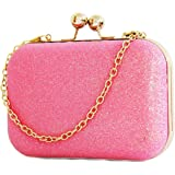 Tooba Handicraft Beautiful Bling Box Clutch Bag Purse For Bridal, Casual, Party, Wedding