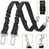 Kelivi Perro Cinturón de Seguridad, 2 Unidades Cinturones de Seguridad Ajustables para Perro, Elástico para Mascotas Correa d