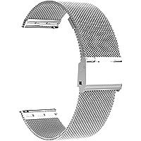 Cinturino per Orologio Microwear,Cinturino in Maglia Metallica in Acciaio Inossidabile di Ricambio da 20 mm 22 mm…