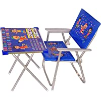 Rudra Creation-Best for Kids, Cartoon Pattern Printed Adjustable Foldable Study Table and Chair Set, for Kids Boy and…