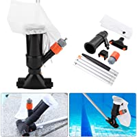 Pool Jet Vacuum Cleaner with 5 Pole Section - Portable Home Swimming Pool Pond Mini Jet Vacuum Head Cleaning Suction Spa Tub Vacuum