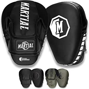 1 Paire ! Le MMA Patte dours de Boxe Durable pour Les Arts Martiaux Le Kickboxing et la Boxe Patte dours Martial avec Un Rembourrage de Haute qualit/é pour Une Absorption optimale des impacts