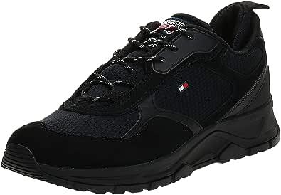 Tommy Hilfiger Fashion Uomo Nero Mix Sneaker