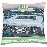 VfL Wolfsburg Kissen 40 x 40 cm Motiv: Stadion Volkswagen Arena (für alle die von der Meisterschaft träumen)