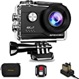 Apexcam Cámara Deportiva 4K 20MP WiFi Ultra HD Cámara subacuática Impermeable 40M Action Camera 2.0'LCD 170° Gran Angular 2.4