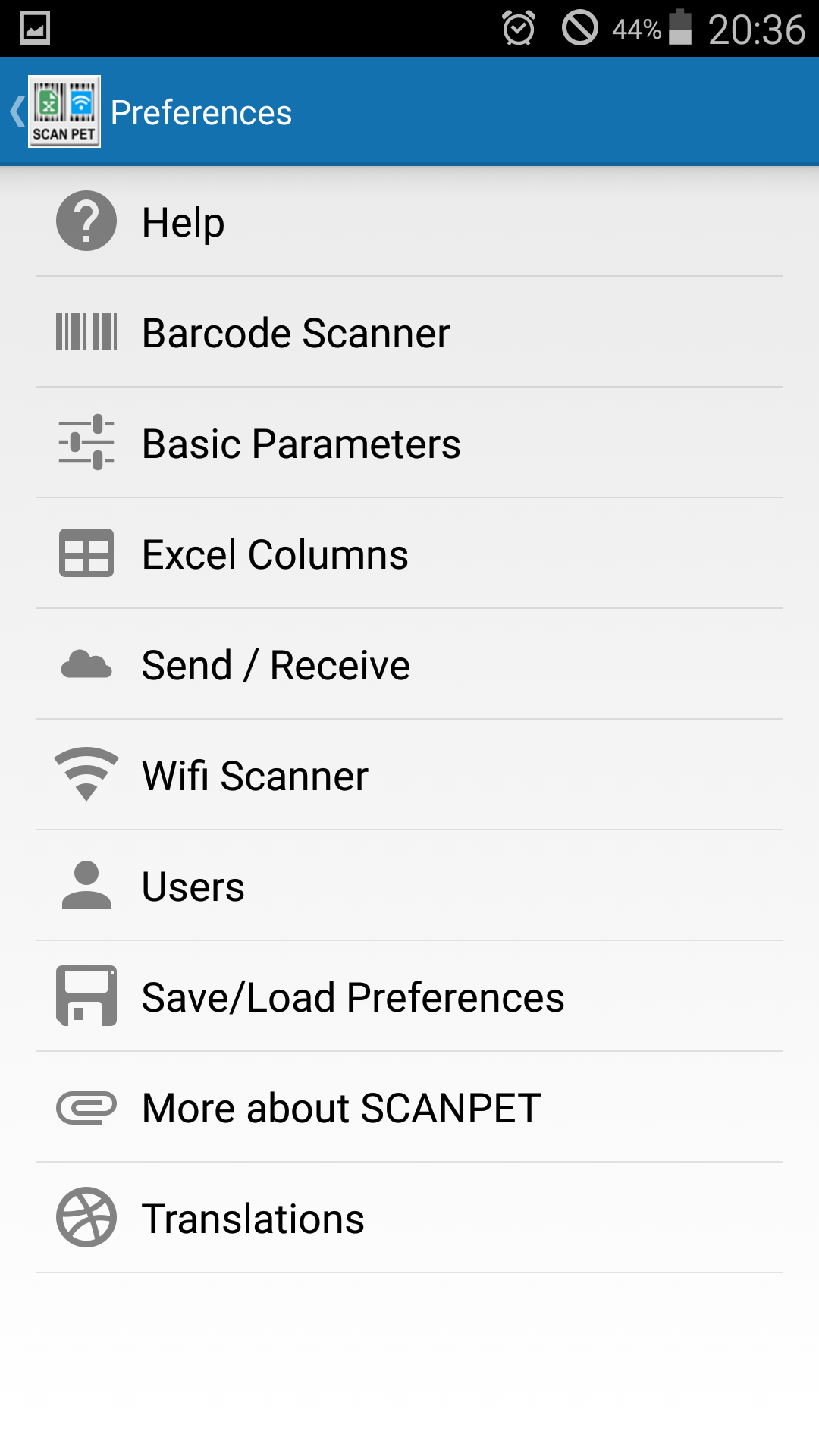 XSCANPET barcode scanner & inventory & Excel & wifi scanner