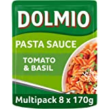 Dolmio Tomato & Basil Microwave Pasta Sauce, Bulk Multipack 8 x 170g pouches
