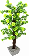 FancyMart Artificial Corriender Bonsai Tree with White Square Pot(Height 60 cms / 24 inchs)