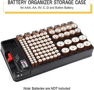 Batterie Organizer Batterie Aufbewahrungskoffer Fur Amazon De Elektronik